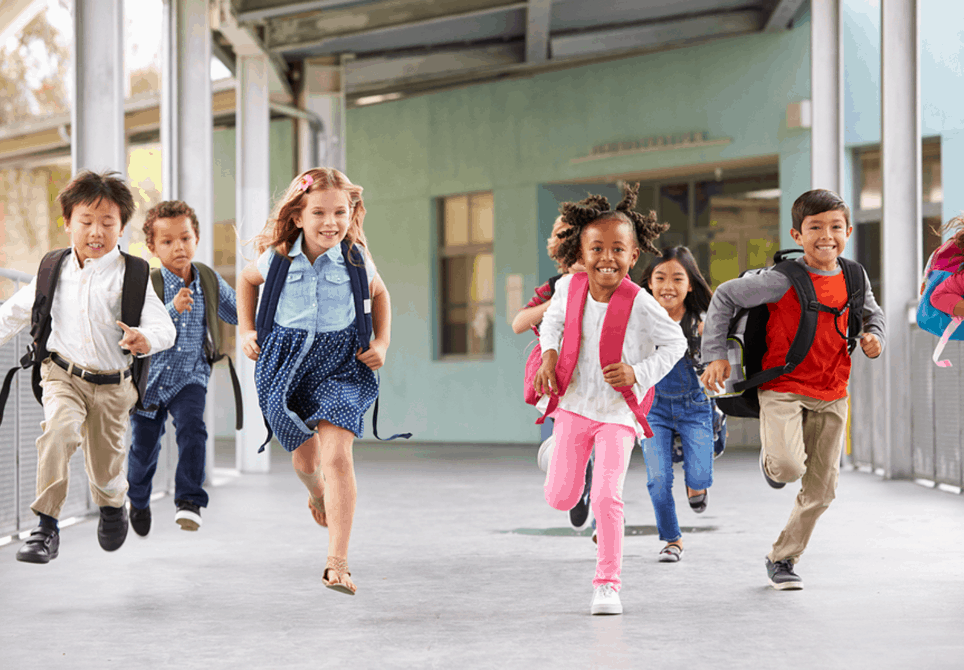 children running in school - photo #18
